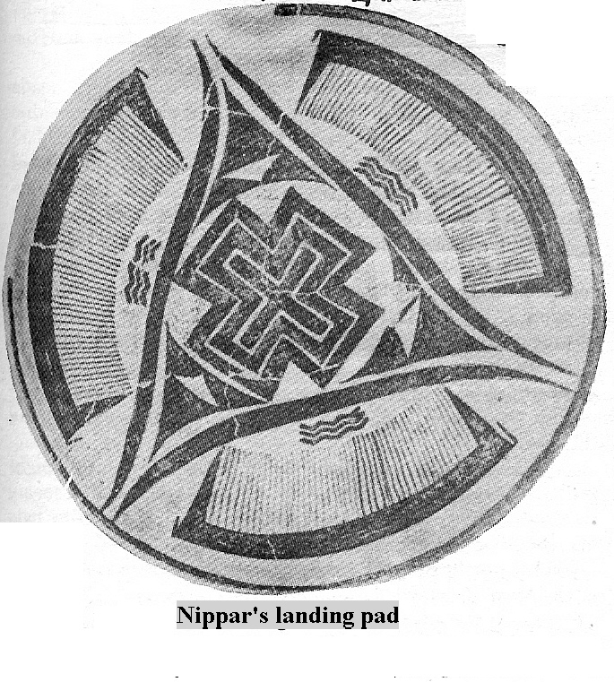 4b - Enlil's Command Center in his city of Nippur, & Landing Pad with Nibiru cross symbol, X marks the spot