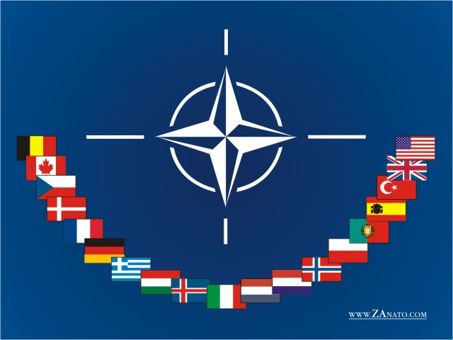 5y - NATO Flag boldly depicts the alien gods symbol of their home planet, Nibiru, the explosive secret kept from non-elites, preserving the lies told by the power-brokers in all countries