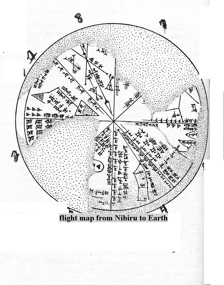 6a - Flight Map from Nibiru to Earth, long ago the Anunnaki set up landing paths, landing sites, beacons, flight directions, etc.