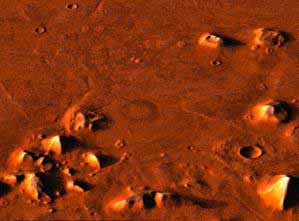 NASA photo of Mars, evidence of the Anunnaki way-station they built on Mars, easier way to reach Nibiru with cargo shipped from Mars, instead of Earth
