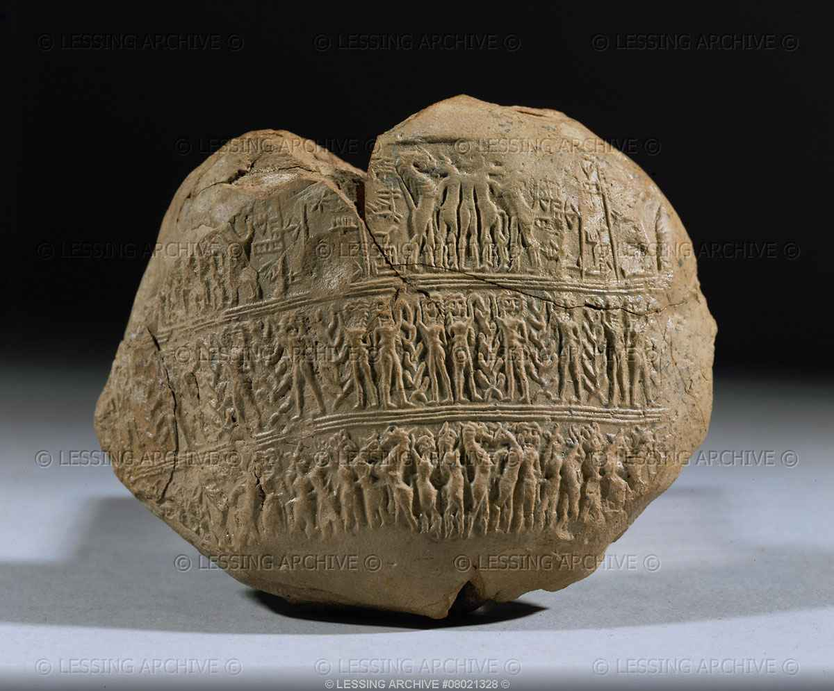 "Inscription: ""Barnantarra, wife of Lugalanda"", Ninsun was much loved by all her relatives on Earth, artefacts like these are being destroyed by Radical Islamists, trying to eliminate any knowledge of ancient history contradictory to their belief system"