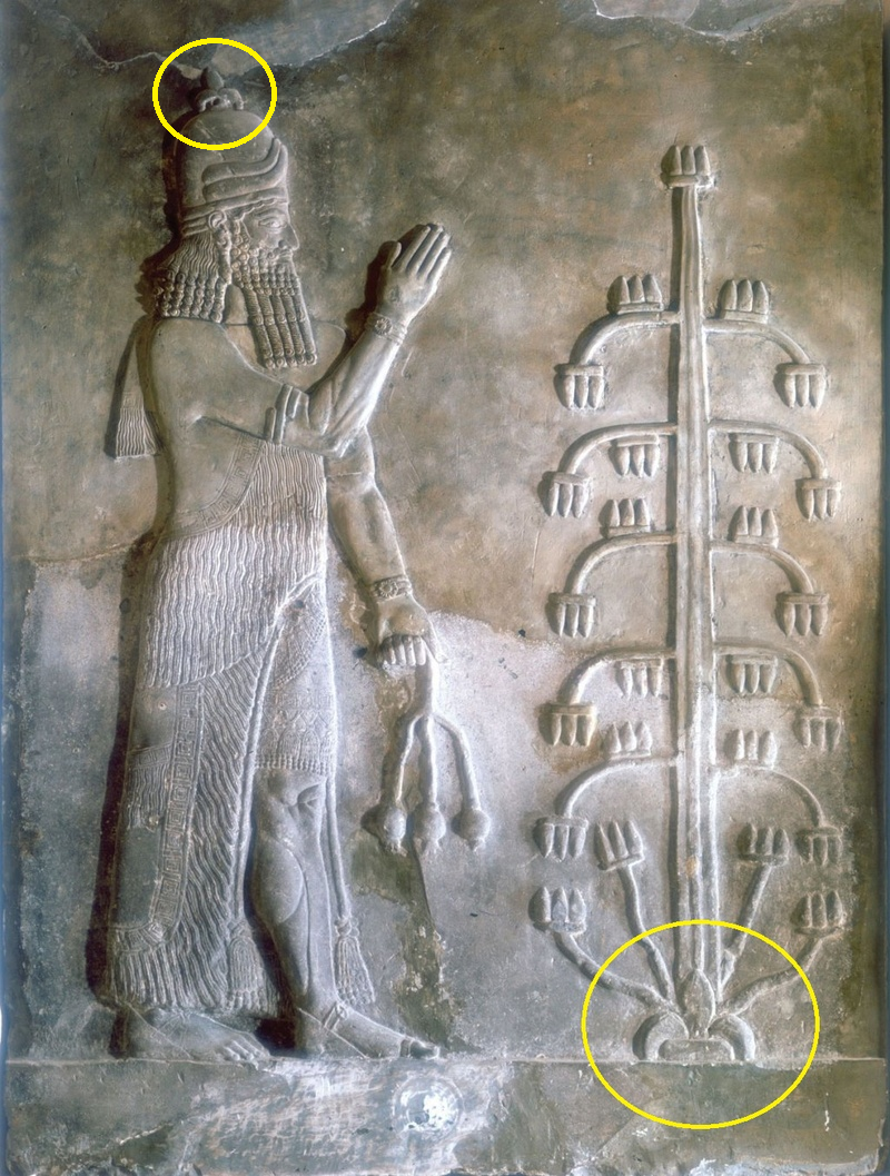 """2ba - Ninurta with poppy in hand,  son to Enlil & Enlil's 1/2 sister Ninhursag, born of the """"double seed"""" aligning him to heir the throne of Heaven & Earth"""