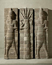 2f - Enlil & Enki, wall relief artefact from the temple of Inshushinak in Susa