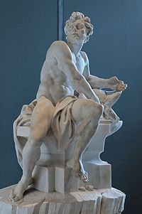 11b - Greek god Hephaestus / Gibil, Louvre Museum, Enki's son Gibil was well known & well worshipped in Ancient Greece, secret societies keep these gods alive today within their teachings