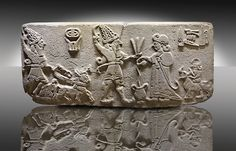 """9aa - Adad in his sky-chariot, Adad on ground with spouse Shala, Enlil's 3rd son, god of thunder, """"the prince, the inundator of hostile shores"""", he """"rides triumphant on the air"""", SEE TEXTS ON ADAD, artefacts of the gods are shamefully being destroyed by Radical Islam, hundreds of thousands of texts & artefacts contradictory to Islam have been discovered in Mesopotamia, many in museums around the world, some in private collections, & some are on the market today, & now they can be found on the internet!, Radical Islam will not succeed in eradicating them from existance before mankind is made fully aware of them, & what they mean to all earthlings"""