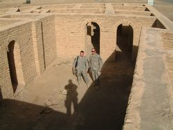 19a - Terah's courtyard in Ur, Ur's mud brick-built city ruins, this was Sumer's most advanced city, the hub for trade of goods produced there by Nannar & his kings, feeding & equipping the rest of Sumer