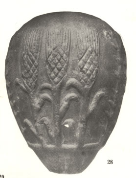 26 - mase-head depicting Sumerian corn (Masonic), native to the Americas only, artefact from Nannar's great metropolis of Ur, well this is puzzling