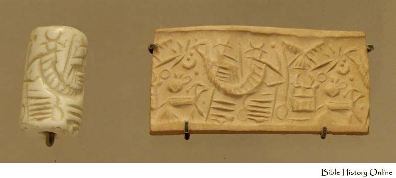 3p - Etana seal of lift off, scene depicts travelling into the skies straight up, the ladder shown could be what Jacob saw when he was outside Haran, Nannar's city, a smaller duplicate of Ur