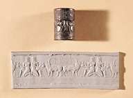 4a - King Shar-kali-sharri cylinder seal 2,200 B.C., son to Naram-Sin, he ruled Akkadia 25 years, artefacts of the alien gods & their giant mixed-breed kings, are being destroyed by Radical Islam, attempting to eradicate any ancient historical evidence that directly contradicts the 7th century teachings of their prophet
