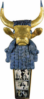 7c - artifact from the Royal Tomb in Ur, the ram Abraham sacrificed instead of Isaac, ancient evidence from the actual place of Abraham, suggests the story's authenticity, Mesopotamian artefacts are shamefully being destroyed by Radical Islam