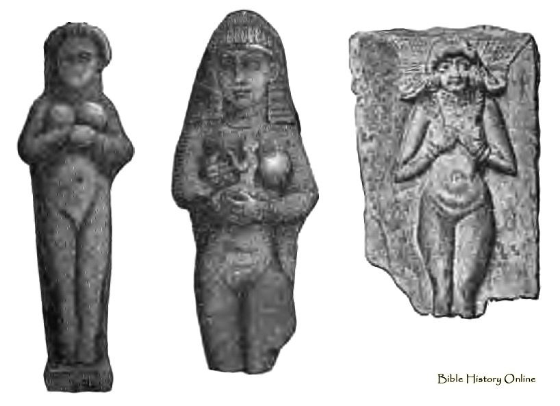 2x - Babylonian clay figures of Inanna