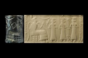 6a - Enki with 3 unidentified sons in the Abzu, artefacts of the giant akien gods are being destroyed by Radical Islam, attempting to eliminate ancient historical evidence of contradicton to the teachings of their 7th century prophet