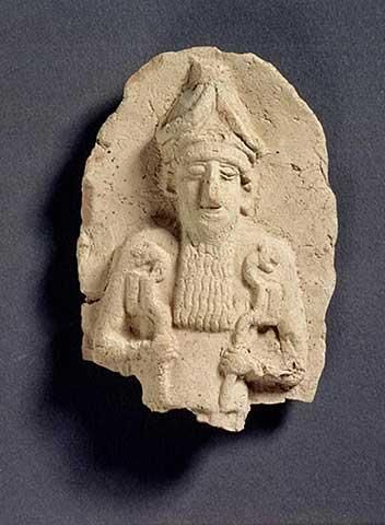 Kish artefact, Nergal holding lion septer alien weapons, artefacts like these are being destroyed by Islamic Radicals, trying to wipe out any & all history that contradicts the message of their prophet