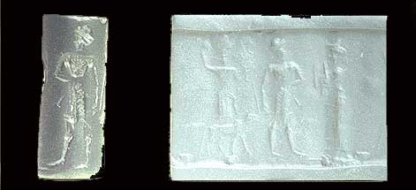 6o - Inanna, the Goddess of Love, unidentified giant mixed-breed king, & Ninsun, the probable mother to the mixed-breed king, an ancient scene from Mesopotamia, important enough to have recorded for all time, artefacts of the alien gods & their giant mixed-breed offspring, are being destroyed by Radical Islam, attempting to eliminate ancient historical evidence that directly contradicts the 7th century doctrines of Islam, fearing the knowledge might get out on the loose