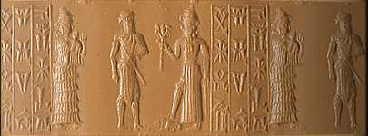 5f - Ninsun, one of her mixed-breed son-kings, & Nergal, god of the Under World, spouse to Ereshkigal, when giant mixed-breeds of the gods became leaders of the other earthlings, the Nephilim giants were upon the Earth in those days, & the days after, when the sons of god(s) came down from Heaven, & had sex with the daughters of men, here is the proof of that Biblical passage from Genesis