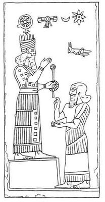 5aa - alien giant god Ashur appoints a mixed-breed offspring of the gods to kingship of Assyria, artefacts of the giant alien gods & their mixed-breed offspring are shamefully being destroyed by Radical Islam, attempting to eliminate ancient historical evidence that directly contradicts the 7th century A.D. doctrines of Islam