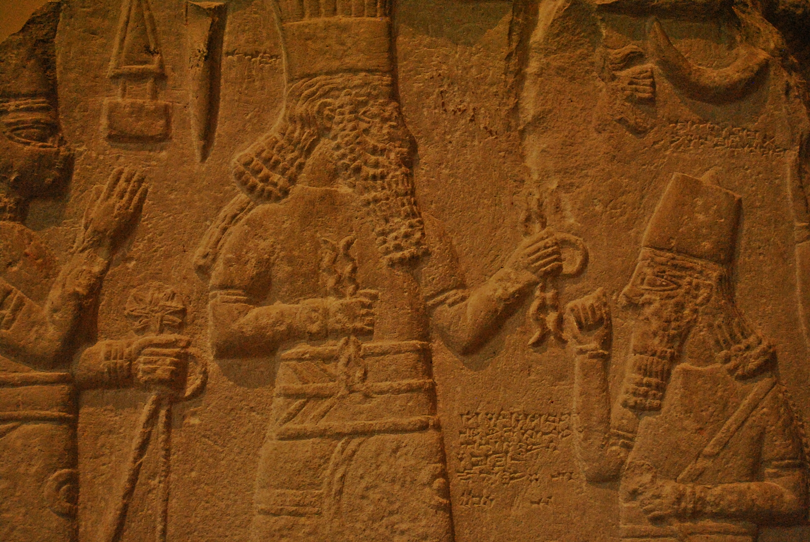 gods of Assyria Shala, her spouse Adad, & an Assyrian unidentified king, a time long, long ago, when the giant alien gods walked upon the Eartg, & spoke with earthlings