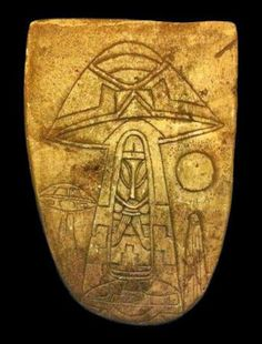 1h - Aztec ancient artefact of alien pilot & flying disc, the aliens, the gods, were well known & memorialized in stone artefacts, scenes once witnessed by earthlings & recorded for future understanding