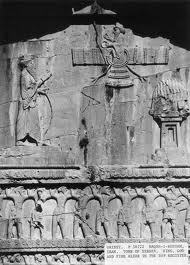 3u - Arta-Xerxes Tomb, flying giant alien god Ashur hovered above alien mixed-breed kings, giving long-life protection to their power & positions by the Anunnaki from the heavens