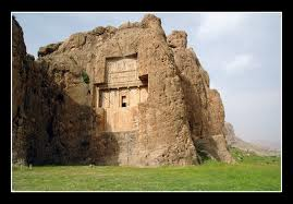 3w - Persian Dynasty King Xerxes Tomb, carved in grand style