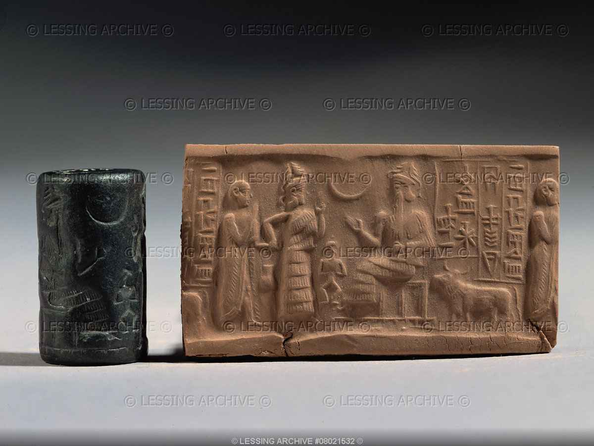 6i - giant alien god of Ur, Nannar, presented an unidentified mixed-breed made king of Ur, by the Goddess of Love Inanna, who made mixed-breed kings her spouse, repeating with the next king, for thousands of years