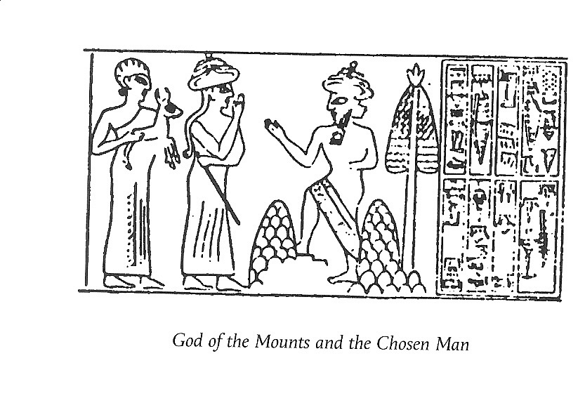 7c - ancient artefact of Ninurta, Lord over the Pyramid Wars, giant mixed-breed offspring of the alien gods, carrying his animal offering for Ninurta's dinner, Inanna lead many mixed-breed kings to their alien gods