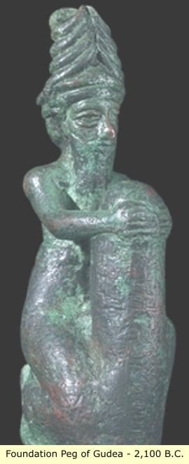 8o - giant alien god Ningishzidda placed the foundation peg of Ningirsu's - Ninurta's temple for Gudea, the mixed-breed king of Lagash, new construction was to begin, the gods taught earthlings this trade in Mesopotamia, both working side by side