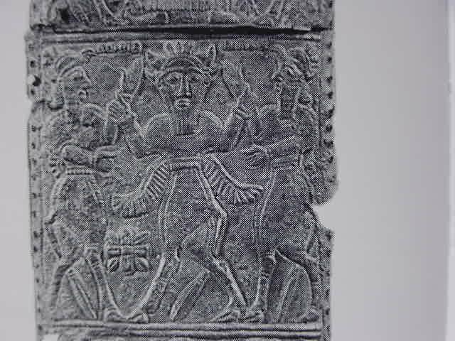 9d - Gilgamesh, Humbaba, & Enkidu, battle to the death, the end of Humbaba, Enkidu was later executed by Enlil for it