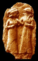 1ba - Inanna & spouse Dumuzi, ancient artefact of Inanna , Goddess of Love, & her 1st spouse & young true love, Dumuzi, son to Enki & Ninsun, later, died by drowning