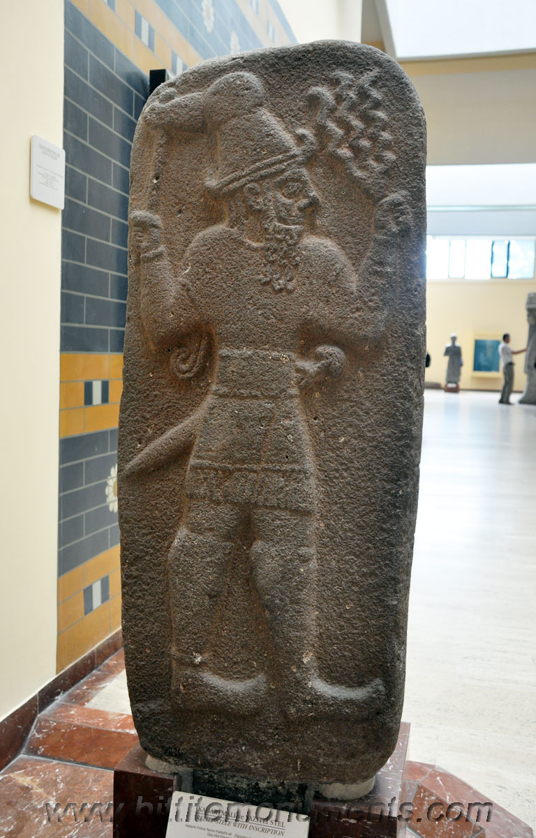 Adad stele, one of many in Mesopotamia & elsewhere