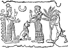 4ga - Bau & older sister Ninhursag, both daughters of Anunnaki King Anu & his concubine Nammu