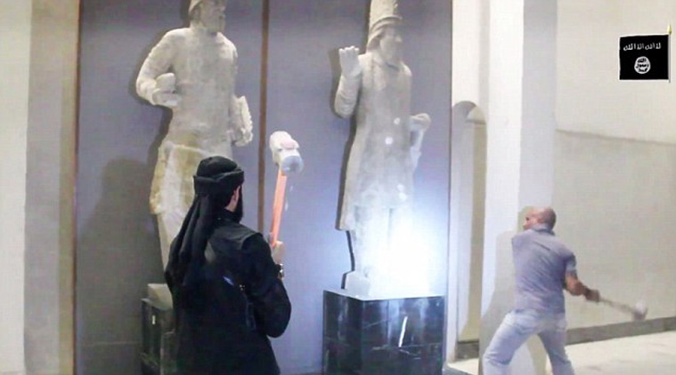 Nimrud artefacts in museum destroyed by Islamic evil