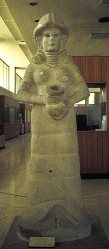 1 - Inanna statue of her in flight suit, now shamefully destroyed by Radical Islam