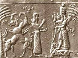 """Inanna, the Goddess of War, Inanna in battle wardrobe, Jerico surrenders to Inanna, sometimes she would take the lead in front of the battles, other times she would fly cover for her kings, softening up the enemies defenses & walls, similar to the Biblical tale of the """"walls of Jericho"""""""