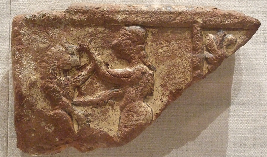 Inanna in hand-to-hand combat as goddess of war