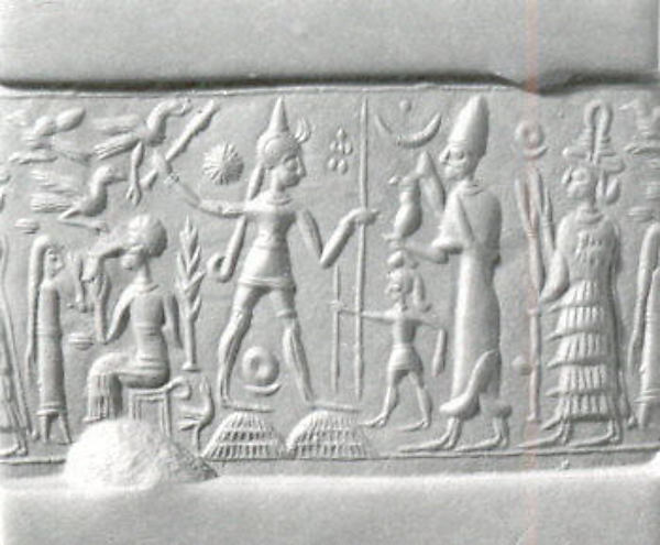 Inanna fighting in the pyramid wars against Marduk