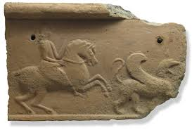 3e - Inanna on horseback, & Ninurta's winged lion-beast