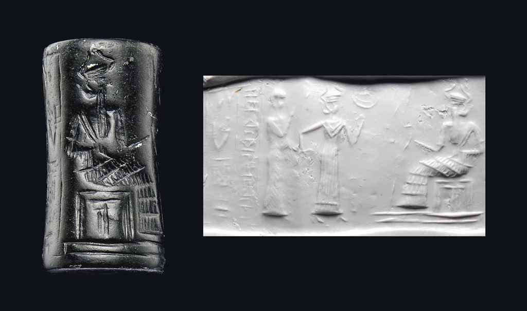 Inanna presents her giant mixed-breed offspring of the gods spouse-king to her father Nannar