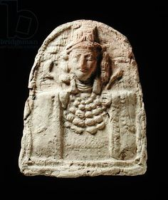10ea - Inanna stele, wearing jewelry, image given women by the alien goddesses