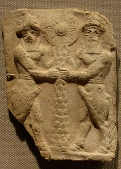 Uruk scene, the 8-pointed star of Inanna prominently displayed