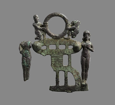 ancient artefact decorated with Goddess of Love Inanna