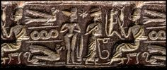 8-pointed star of naked Inanna, twin brother Utu, & father Nannar