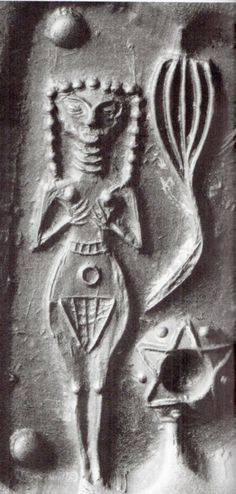 naked Goddess of Love Inanna depicted many ways in ancient Sumer