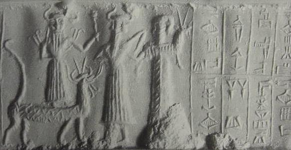 13 - Marduk on Mushhushshu & Nabu with his animal symbol