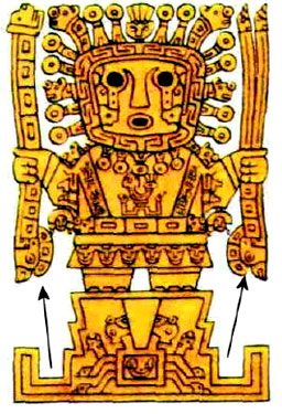 10p - Adad - Mesoamerican god Viracocha with lightning & thunder weapons, Adad didn't dissappear after Mesopotamia