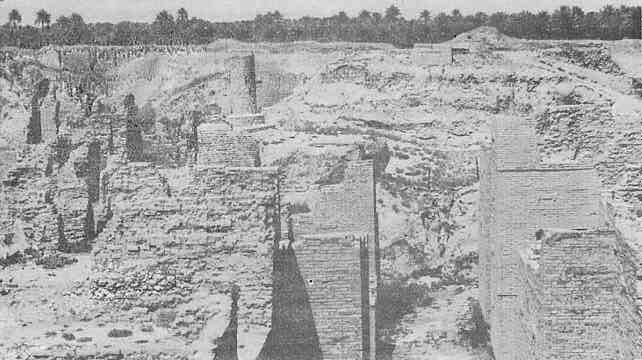 15f - mud brick ruins of Marduk's destroyed Babylon