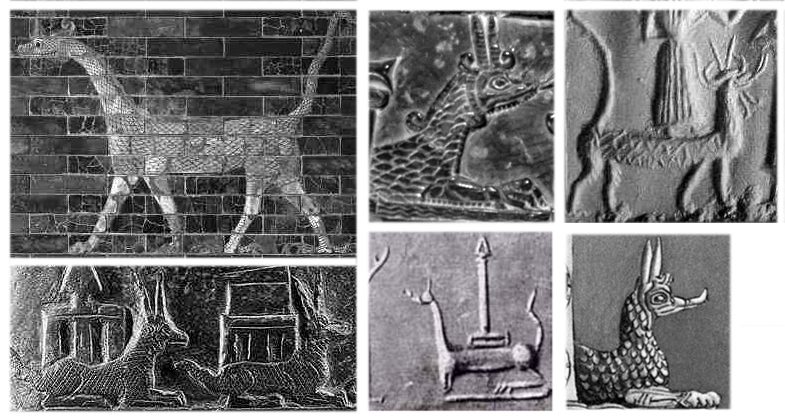 19 - Marduk's beast animal symbol named Mushhushshu