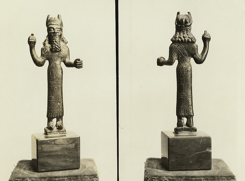 1c - Hadad statue, Assyrian weather god