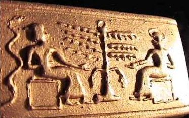 49 - Ninhursag & brother Enki in lab deciding physical attributes for new workers to be fashioned