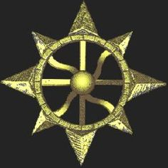 51y - 8-pointed star on wheels, jewelry, medals, patterns, places of worship, etc.